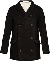 Giorgio Armani Double-breasted wool-blend pea coat