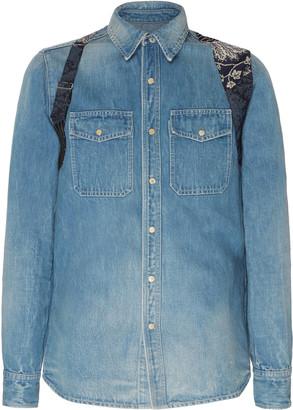 Alexander McQueen Harness-Detailed Denim Shirt