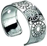 Element Sterling Silver, Ladies', B3647, Etched and Cut Out Cut Out Pattern Bangle