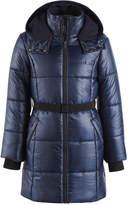 Calvin Klein Vail Hooded Belted Puffer Coat, Little Girls (4-6X)