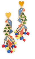 Tory Burch Parrot Statement Earrings