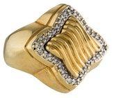 David Yurman 18K Diamond Quatrefoil Cocktail Ring