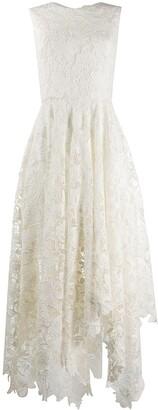 Alexander McQueen Floral Lace Asymmetric Dress