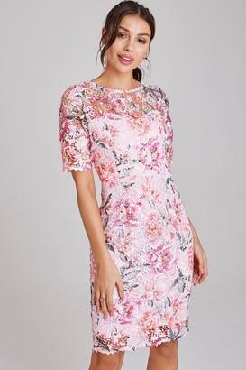 Paper Dolls Nantes Blush Floral-Print Lace Dress