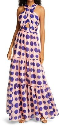 Ulla Johnson Fontaine Dot Cotton & Silk Dress