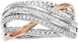 Two-Tone 10k Rose Gold & 10k White Gold 1/2 Carat T.W. Diamond Ring