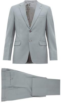 Prada Single Breasted Wool Blend Suit - Mens - Light Blue