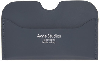 Acne Studios Grey Logo Card Holder