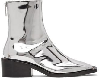 MM6 MAISON MARGIELA Silver Square Toe Boots