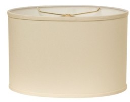 Cloth & Wire Slant Retro Oval Hardback Lampshade with Washer Fitter