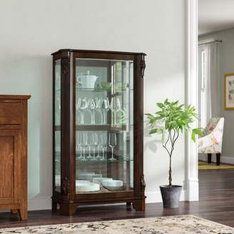 Canora Grey Akerman Mantel Lighted Curio Cabinet Canora Grey