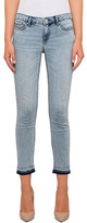 Calvin Klein Ankle Skinny With Turned Down Hem And Destruction