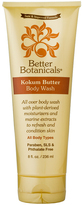 Better Botanicals Kokum Butter Body Wash by 6oz Shower Gel)