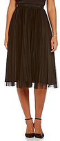 Adrianna Papell Sunburst Pleated Tulle Midi Ball Skirt