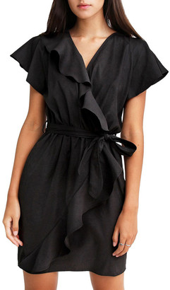 Belle & Bloom Best Selfie Black Ruffle Dress
