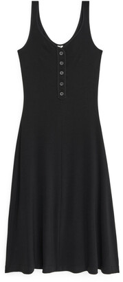 Arket Jersey Rib Dress