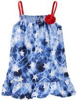 Osh Kosh Toddler Girl Smocked Patterned Peplum Tunic