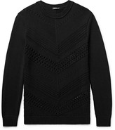 Balmain - Open-knit Cotton Sweater