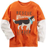 Carter's Long-Sleeve Layered-Look Rescue Wilderness Graphic Tee