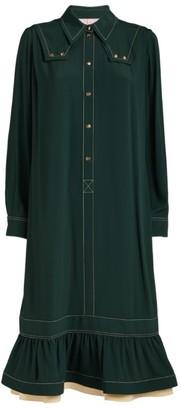 Lanvin Gathered-Hem Shirt Dress