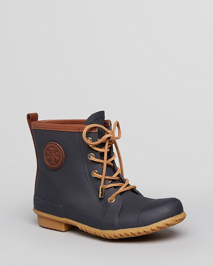 Tory Burch Lace Up Rain Booties - Leandera