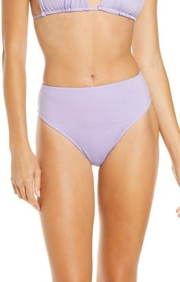 Frankie's Bikinis Grotto Metallic High Waist Bikini Bottoms