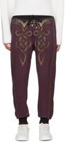 Dolce & Gabbana Burgundy Knight Lounge Pants