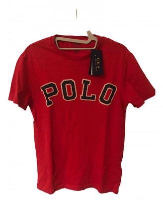 Polo Ralph Lauren Red Cotton T-shirts