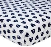 Nautica Mix & Match Sailboat Print Fitted Crib Sheet