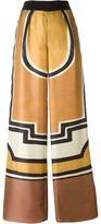 Alberta Ferretti geometric print palazzo pants - women - Silk - 46