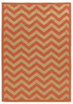 Linon Rust Chevron Quatrefoil Reversible Outdoor Rug (6'6 x 9'6)