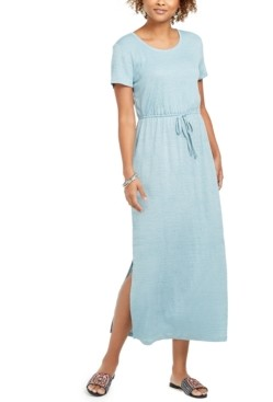 Style&Co. Style & Co Textured Tie Waist Maxi Dress, in Regular and Petite, Created for Macy's