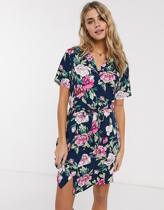 JDY Star short sleeve ditsy floral shirt dress