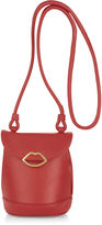 Lulu Guinness Red Leather Joanna Cross Body Bag