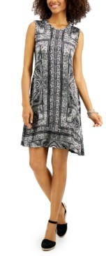 Style&Co. Style & Co Mixed-Print Sleeveless Dress, Created for Macy's