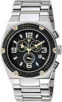 Swiss Legend Men's 40025P-11-BB-GA Throttle Analog Display Swiss Quartz Silver Watch