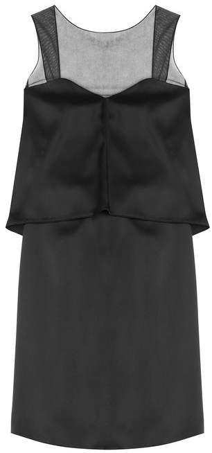 Maison Margiela Silk-Blend Sheer Panel Cocktail Dress