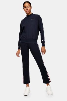 Champion Womens Navy Velvet Stripe Trousers By Navy Blue