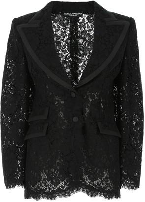 Dolce & Gabbana Single Breasted Lace Blazer