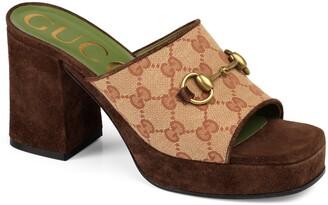 Gucci Houdan Original GG Platform Slide Sandal