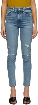 rag & bone Blue Nina Ankle Jeans