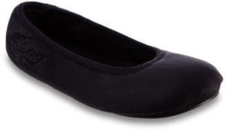 Isotoner Women's Brianna Microsuede Ballerina Slippers