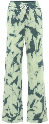 Off-White Off White Tie-dye printed cotton trackpants