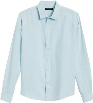 Banana Republic Untucked Slim-Fit Linen-Cotton Shirt