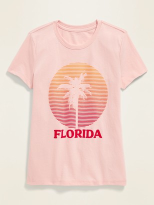 Old Navy Florida Graphic Soft-Washed Tee for Girls