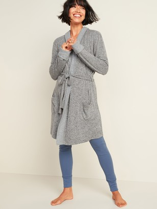 Old Navy Cozy Hooded Tie-Belt Robe for Women