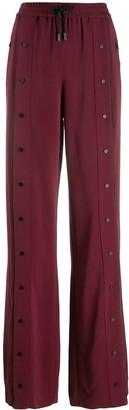 Karl Lagerfeld Paris logo snap trousers