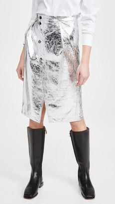 Marni Metallic Leather Skirt