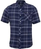Firetrap Mens Casper Short Sleeve Check Shirt Indigo Check
