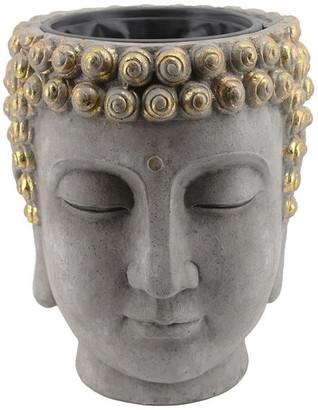 Sagebrook Home Resin Buddha Head Flower Pot 13029-08